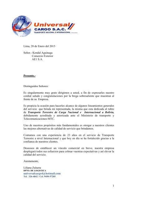 Carta De Presentacion Ae1
