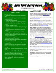 New York Berry News - Cornell Fruit - Cornell University