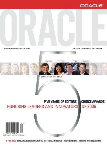 Oracle - John Anselmo's Online Library So Geek Away