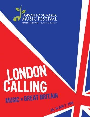 Toronto Summer Music Festival Online Brochure 2016