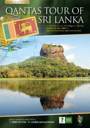 QANTAS TOUR OF SRI LANKA
