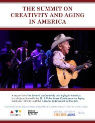 THE SUMMIT ON CREATIVITY AND AGING IN AMERICA
