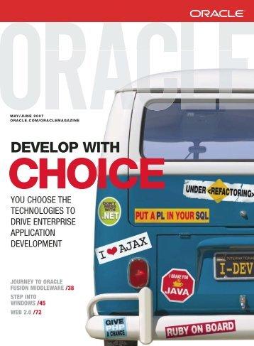 Oracle Magazine - May/June 2007 - Marcelo Machado