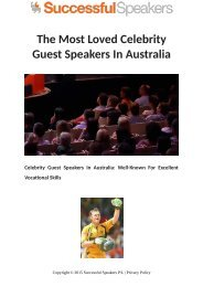 The Most Loved Celebrity Guest Speakers In Australia
