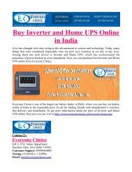 Buy Inverter and Home UPS Online in India
