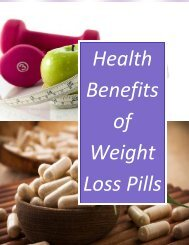 Health Benefits of Weight Loss Pills