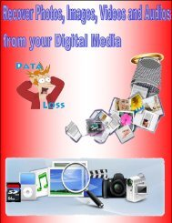Recover Photos, Images, Videos and Audios from your Digital Media