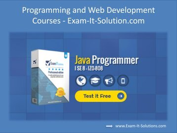 Programming and Web Development Courses - Exam-It-Solution.com