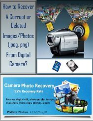 How to Recover a Corrupt or Deleted Images Photos (jpeg, png) From Digital Camera