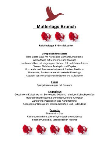Muttertagsbrunch am 8. Mai 2016 im Golf Resort Achental