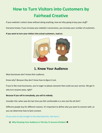 How to Turn Website Visitors into Customers by Fairhead Creative