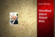 Gedenkbuch Pfarrer Walz - Blick ins Buch