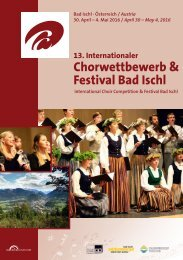 Bad Ischl 2016 - Program Book