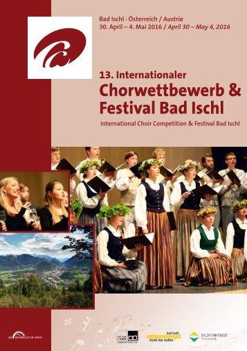 Bad Ischl 2016 - Program Book