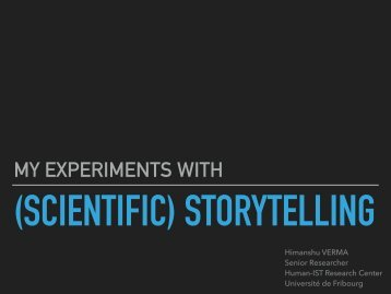 (SCIENTIFIC) STORYTELLING