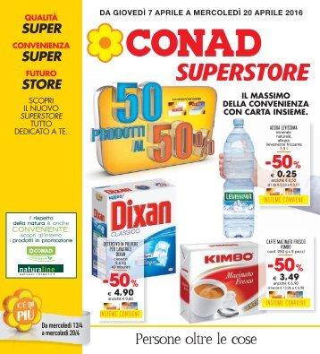 070416 - CONAD SUPERSTORE Terranova - 50 prodotti al 50%