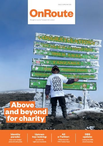 Above and beyond for charity
