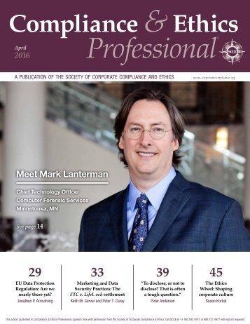 Compliance & Ethics-Lanterman interview