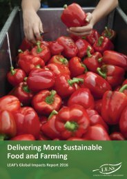 Delivering More Sustainable Food and Farming