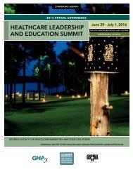 HEALTHCARE LEADERSHIP AND EDUCATION SUMMIT