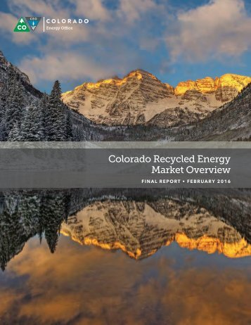 Colorado Recycled Energy Market Overview