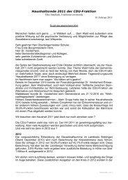 Haushaltsrede 2011 der CDU-Fraktion - CDU Gemeinderatsfraktion ...