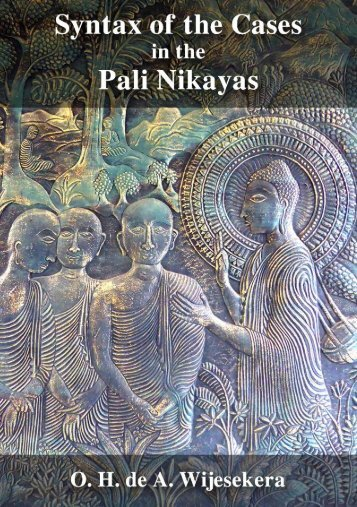 Syntax of the Cases in the Pali Nikayas