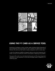 using the pt card as a service tool - Parker Hannifin Corporation