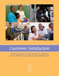 Customer Satisfaction - Center for the Study of Social Policy