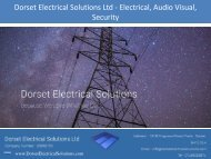 Dorset Electrical Solutions Ltd - Electrical, Audio Visual, Security