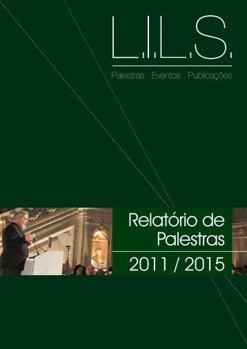 Relatório de Palestras 2011 / 2015