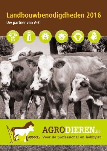 Agrodieren.be landbouwbenodigdheden catalogus 2016