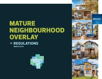 Mature Neighbourhood Overlay
