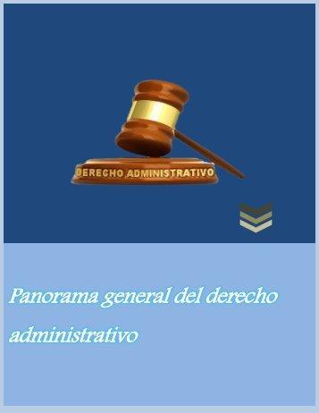 Panorama general del derecho administrativo
