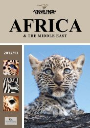 2012/13 & the middle east - African Travel Specialists