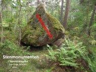 Stenmonumenten i Storvretabygden 2016  Sven-Inge Windahl