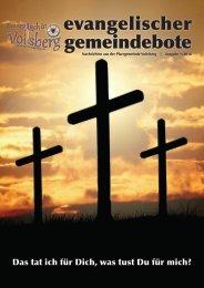 evangelischer gemeindebote 1/2016