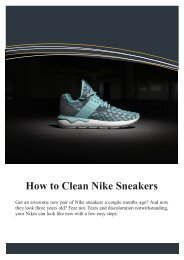 How to Clean Your Nike Sneakers