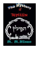 The Mystery of tefillin