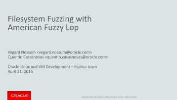 Filesystem Fuzzing with American Fuzzy Lop