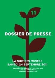 DOSSIER DE PRESSE - La nuit des musées