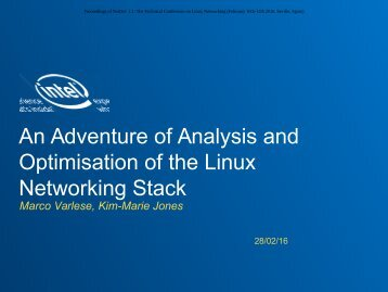 An Adventure of Analysis and Optimisation of the Linux Networking Stack