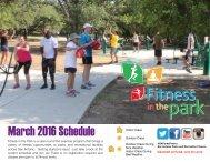 March 2016 Schedule