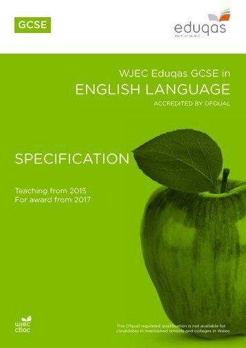 ENGLISH LANGUAGE SPECIFICATION