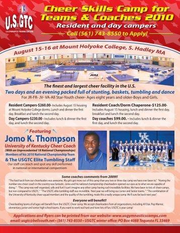 Jomo K. Thompson - US Gymnastics Training Camps