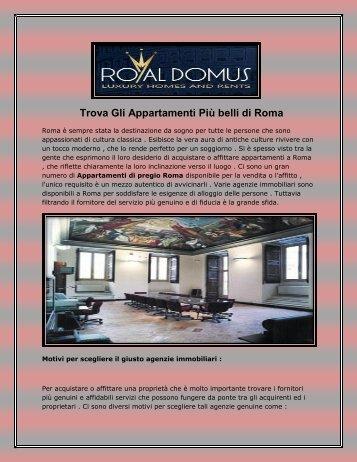 Trova Gli Appartamenti Più belli di Roma