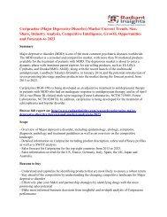 Cariprazine (Major Depressive Disorder) Market Share And Size To 2023