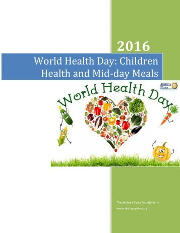 World Health Day Children Health and Mid-day Meals