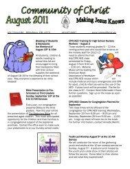 August 2012 - Community of Christ Lutheran Church