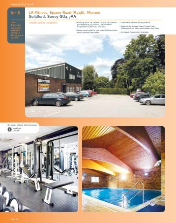 LA Fitness, Epsom Road (A246), Merrow Guildford, Surrey ... - Acuitus